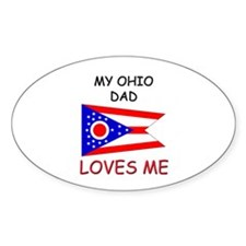 My OHIO DAD Loves Me Oval Decal