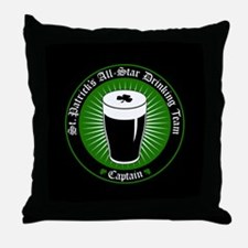 Funny Guinness beer Throw Pillow