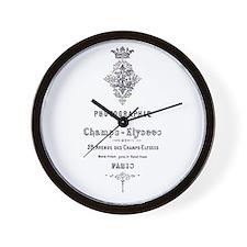 PARIS PHOTOGRAPHIE CHAMPS - ELYSEES Wall Clock