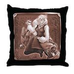 Mad Teatime Throw Pillow