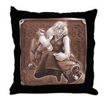Mad Teatime Throw Pillow