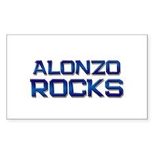 alonzo rocks Rectangle Decal