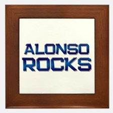 alonso rocks Framed Tile