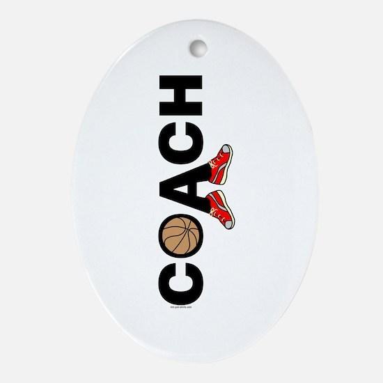 Basketball Coach Oval Ornament