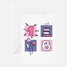 Color Block 16 Greeting Card
