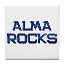 alma rocks Tile Coaster