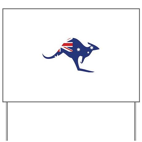 australian flag kangaroo Yard Sign