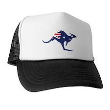 australian flag kangaroo Trucker Hat