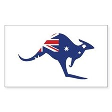 australian flag kangaroo Rectangle Decal
