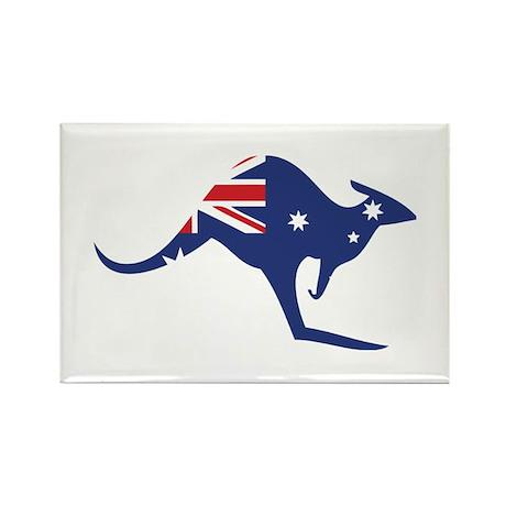 australian flag kangaroo Rectangle Magnet