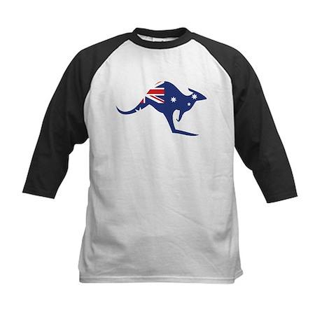 australian flag kangaroo Kids Baseball Jersey