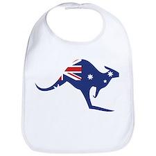australian flag kangaroo Bib