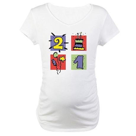 Color Block 21 Maternity T-Shirt