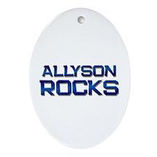 allyson rocks Oval Ornament