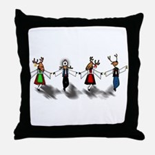 Greek Dancing Reindeer Throw Pillow
