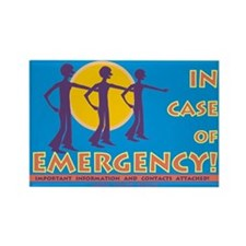 In case of Emergency /Rectangle Magnet
