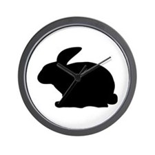 black rabbit icon Wall Clock