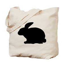 black rabbit icon Tote Bag