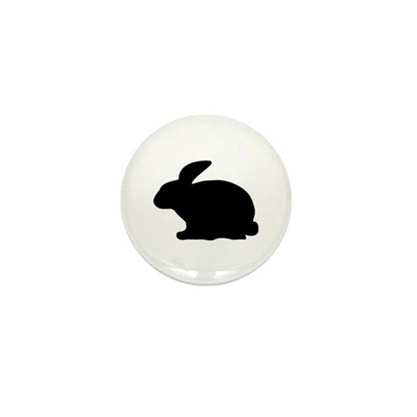 black rabbit icon Mini Button