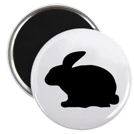 black rabbit icon Magnet