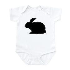 black rabbit icon Infant Bodysuit
