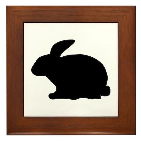 black rabbit icon Framed Tile