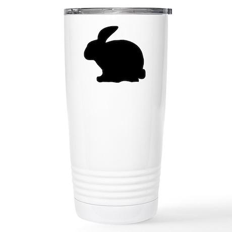 black rabbit icon Stainless Steel Travel Mug