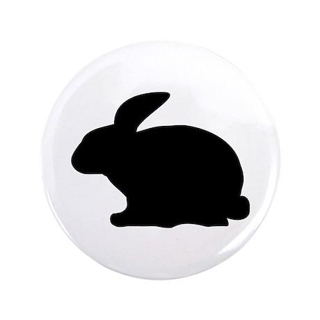 "black rabbit icon 3.5"" Button (100 pack)"