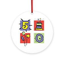 Color Block 50 Ornament (Round)