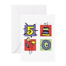 Color Block 50 Greeting Card
