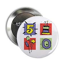 """Color Block 50 2.25"""" Button"""