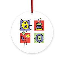 Color Block 60 Ornament (Round)