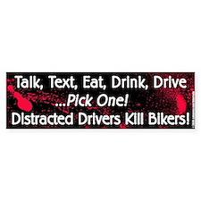 Distracted Driver/Gore Bumper Sticker (10 pk)