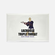 TOP Lacrosse Triple Threat Rectangle Magnet