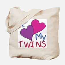 I heart my twins Tote Bag