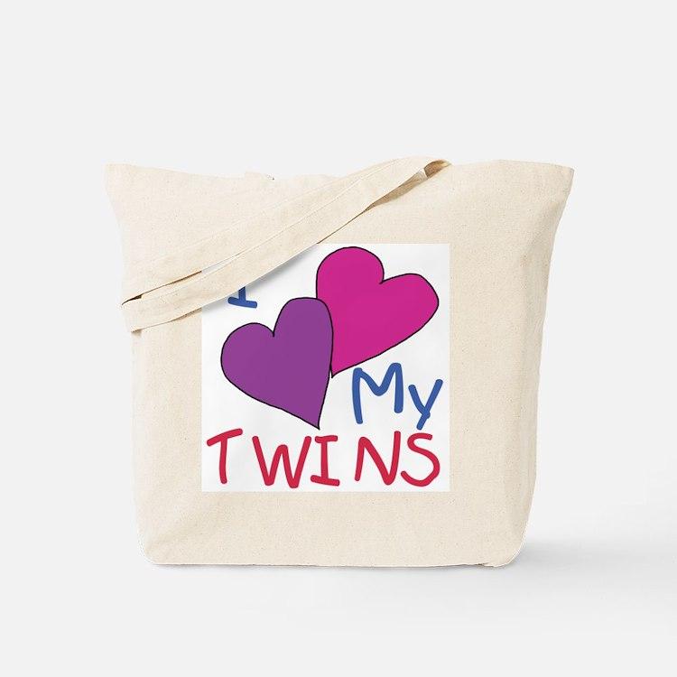 I heart my twins Tote Bag