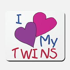 I heart my twins Mousepad