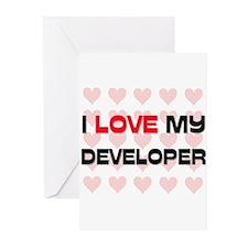 I Love My Developer Greeting Cards (Pk of 10)
