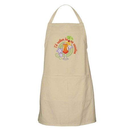 I'd Rather Be On Vacation BBQ Apron