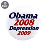 """Depression '09 3.5"""" Button (10 pack)"""