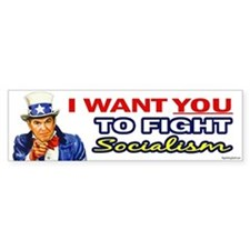 IWY Fight Socialism - Reagan Bumper Bumper Sticker