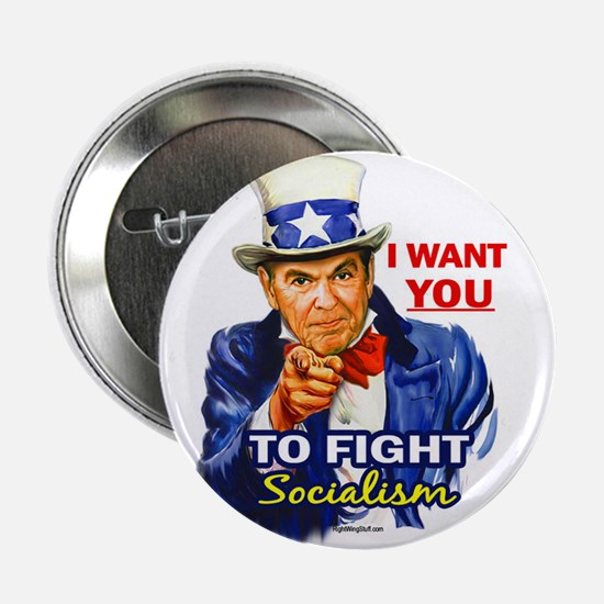 "IWY Fight Socialism - Reagan 2.25"" Button (10 pack"