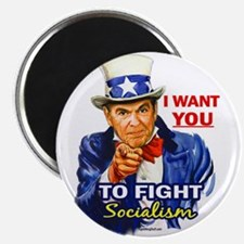 "IWY Fight Socialism - Reagan 2.25"" Magnet (10 pack"