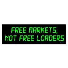 Free Markets Bumper Bumper Sticker