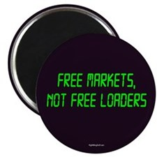 """Free Markets 2.25"""" Magnet (100 pack)"""