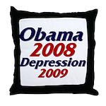 Depression '09 Throw Pillow