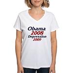 Depression '09 Women's V-Neck T-Shirt