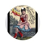 Tattooed Lady Aimee Vintage Advertising Print Roun
