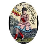 Tattooed Lady Aimee Vintage Advertising Print Oval
