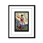 Tattooed Lady Aimee Vintage Advertising Print Fram